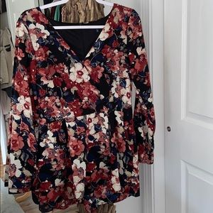 One Clothing Floral Long Sleeve Romper